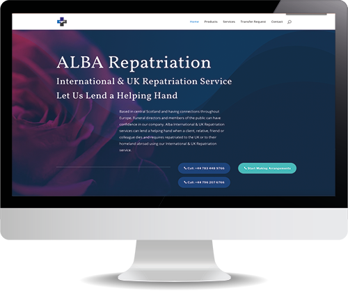 Infinity Designs client - Alba Repatriations